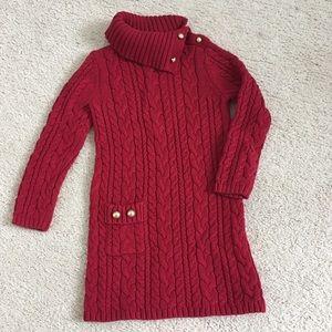 Girls red sweater dress